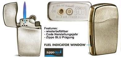 zippo lighters butane